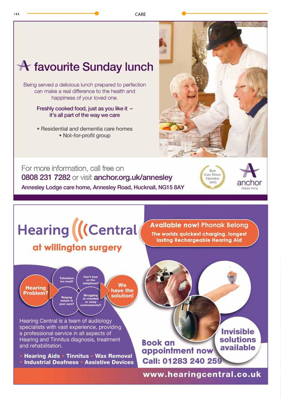 144  CARE       Home Is Where Our Hearts Are  Abbeyfield   s residential home, Middleton house, brings a whole new meaning...