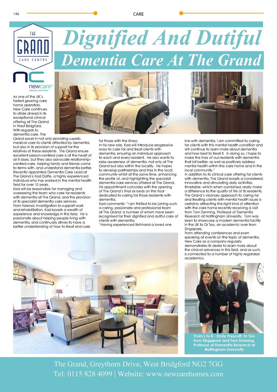 CARE  146  Dignified And Dutiful  Dementia Care At The Grand As one of the UK   s fastest growing care home operators, New...