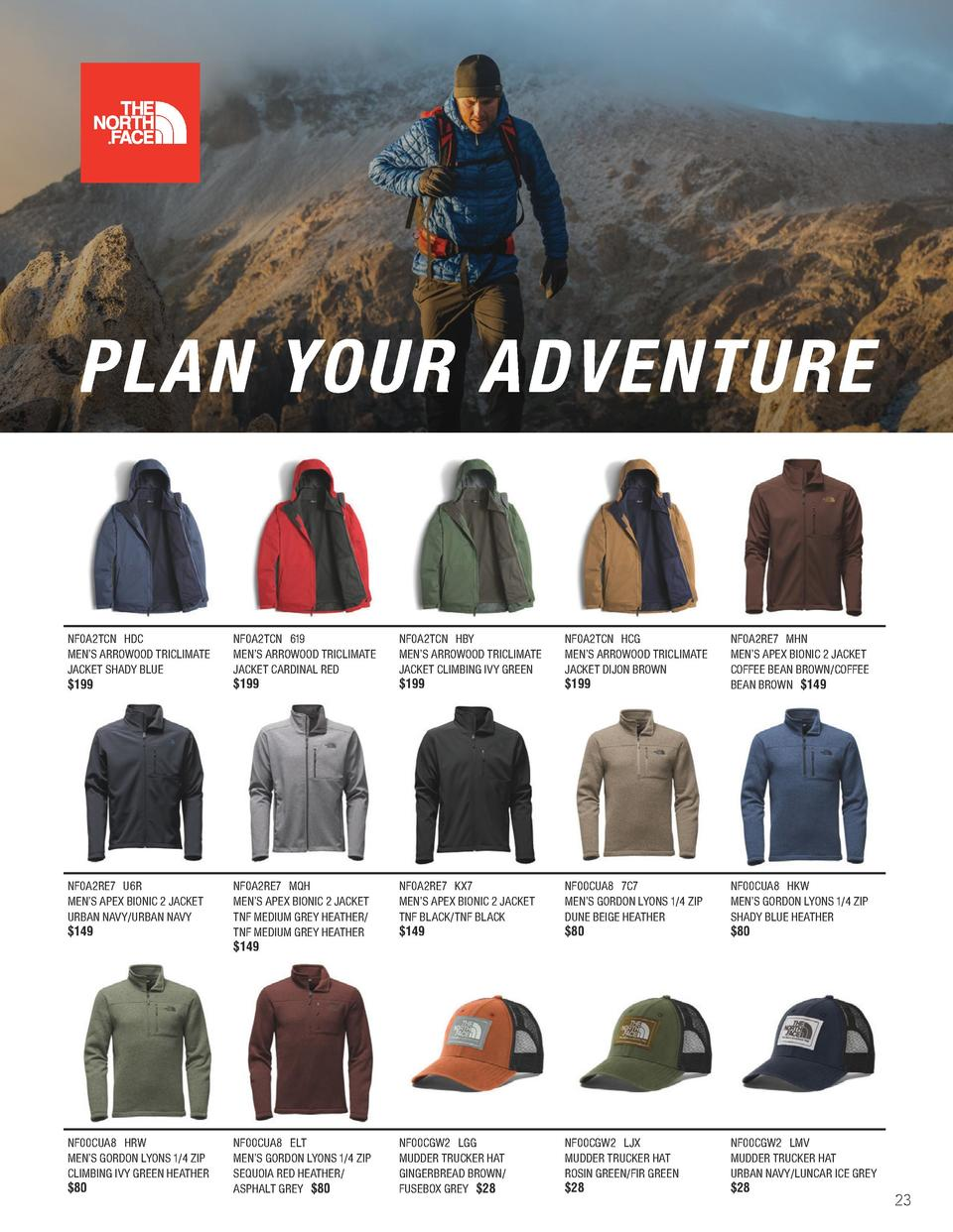 PLAN YOUR ADVENTURE  NF0A2TCN HDC MEN   S ARROWOOD TRICLIMATE JACKET SHADY BLUE  199.00  NF0A2TCN 619 MEN   S ARROWOOD TRI...
