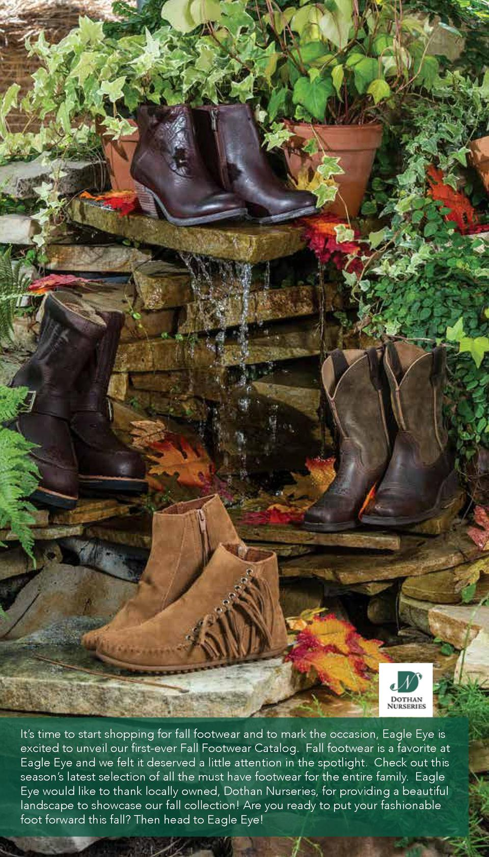 It   s time to start shopping for fall footwear and to mark the occasion, Eagle Eye is excited to unveil our first-ever Fa...