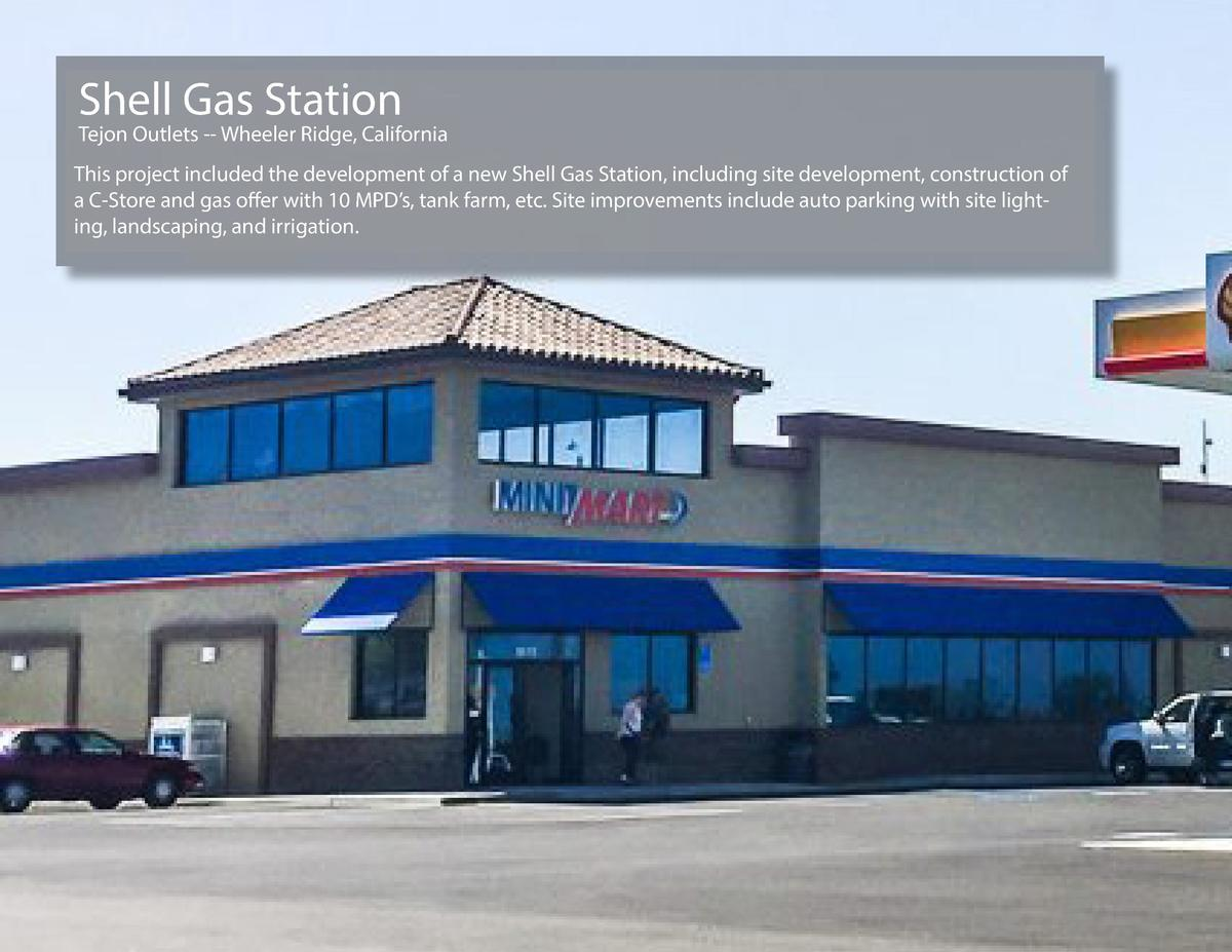 Shell Gas Station  Tejon Outlets -- Wheeler Ridge, California This project included the development of a new Shell Gas Sta...