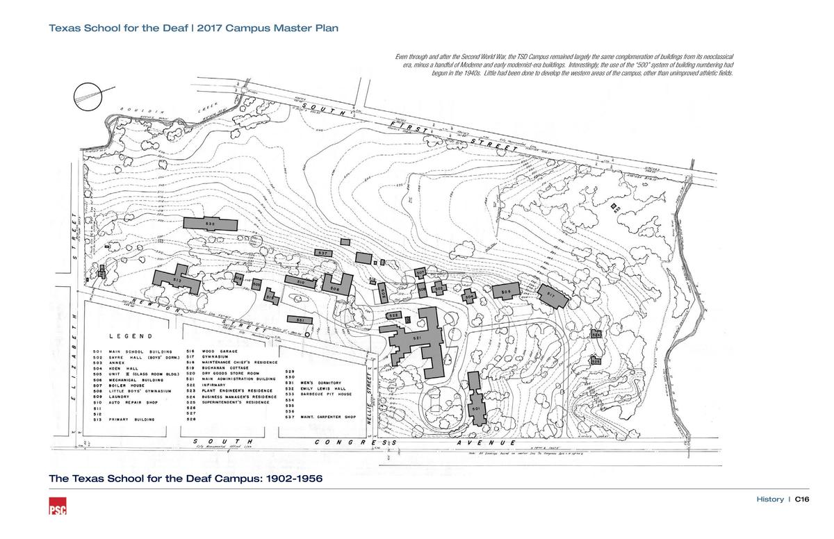 Texas School for the Deaf   2017 Campus Master Plan Even through and after the Second World War, the TSD Campus remained l...