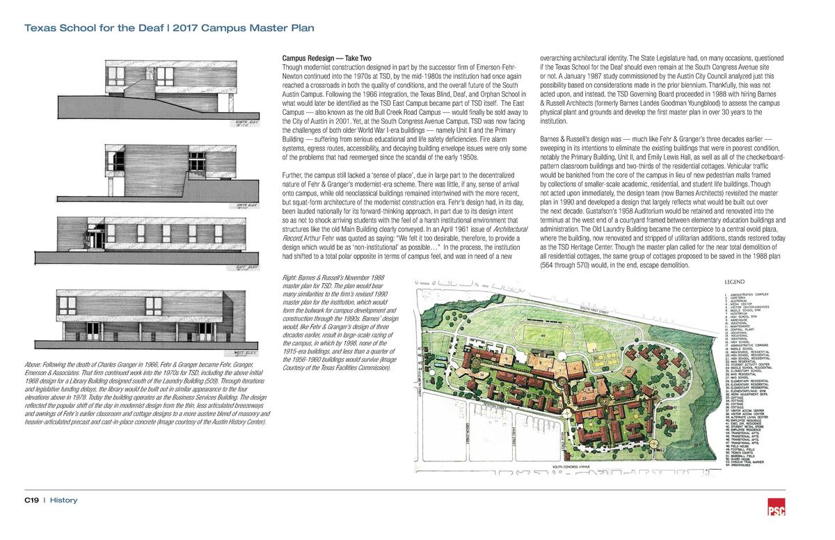 Texas School for the Deaf   2017 Campus Master Plan Campus Redesign     Take Two Though modernist construction designed in...