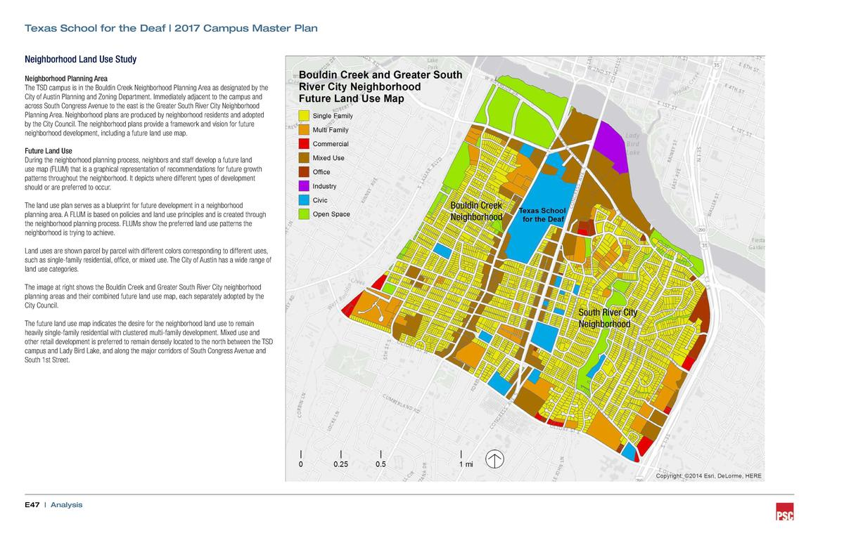 Texas School for the Deaf   2017 Campus Master Plan Neighborhood Land Use Study Neighborhood Planning Area The TSD campus ...