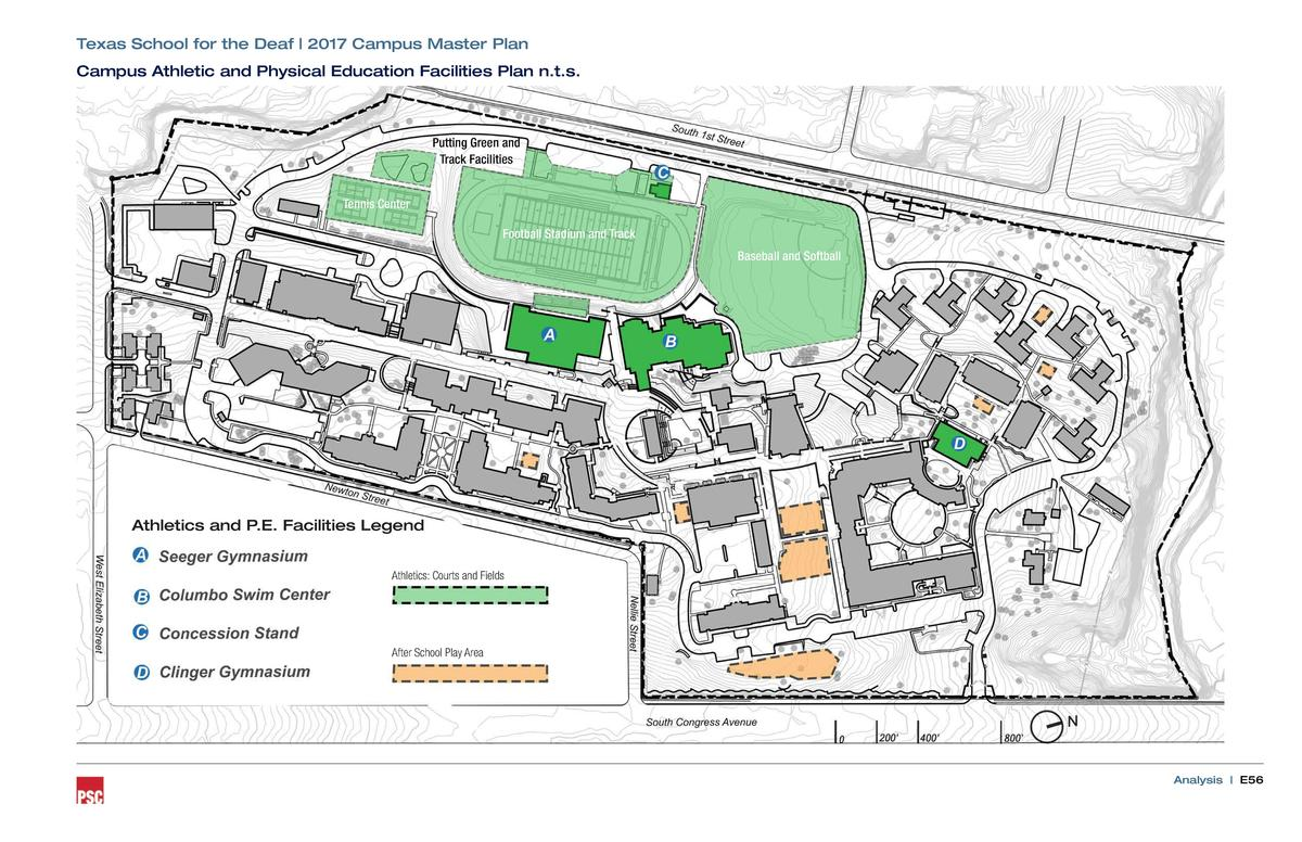 Texas School for the Deaf   2017 Campus Master Plan Campus Athletic and Physical Education Facilities Plan n.t.s.  Putting...