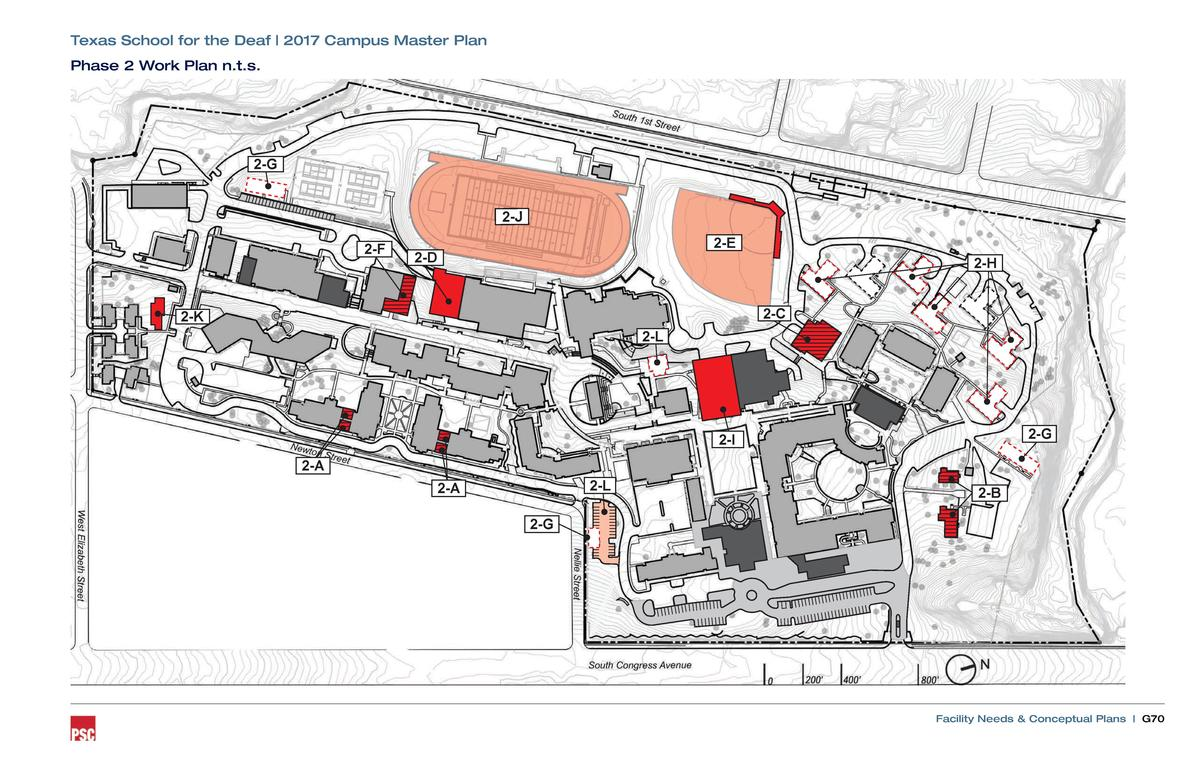Texas School for the Deaf   2017 Campus Master Plan Phase 2 Work Plan n.t.s.  2-G  2-J 2-F  2-E  2-D  2-H 2-C  2-K 2-L  2-...