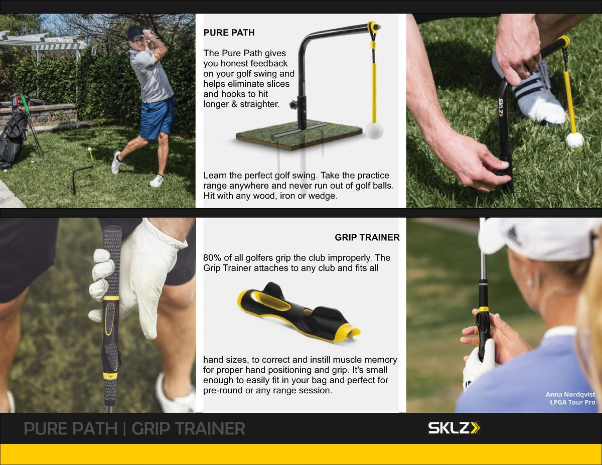PURE PATH The Pure Path gives you honest feedback on your golf swing and helps eliminate slices and hooks to hit longer   ...