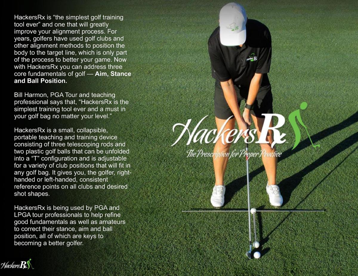 HackersRx is    the simplest golf training tool ever    and one that will greatly improve your alignment process. For year...