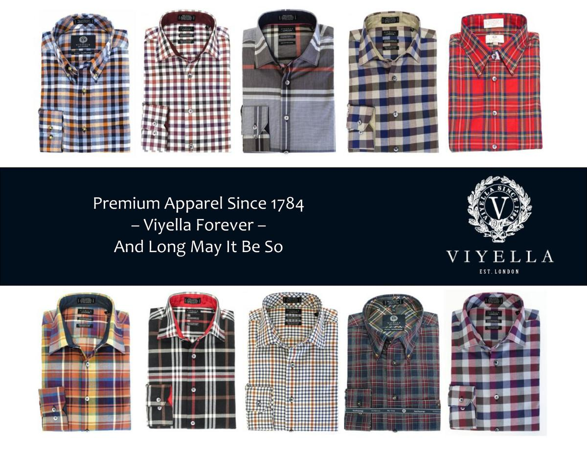 Premium Apparel Since 1784     Viyella Forever     And Long May It Be So EST. LONDON