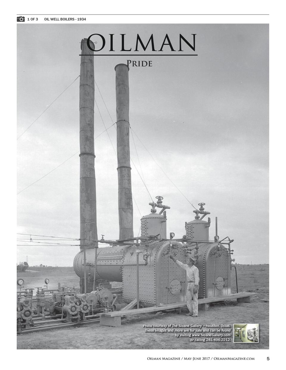1 OF 3   OIL WELL BOILERS - 1934  Pride  Photo courtesy of The Sloane Gallery     Houston, Texas. These images and more ar...