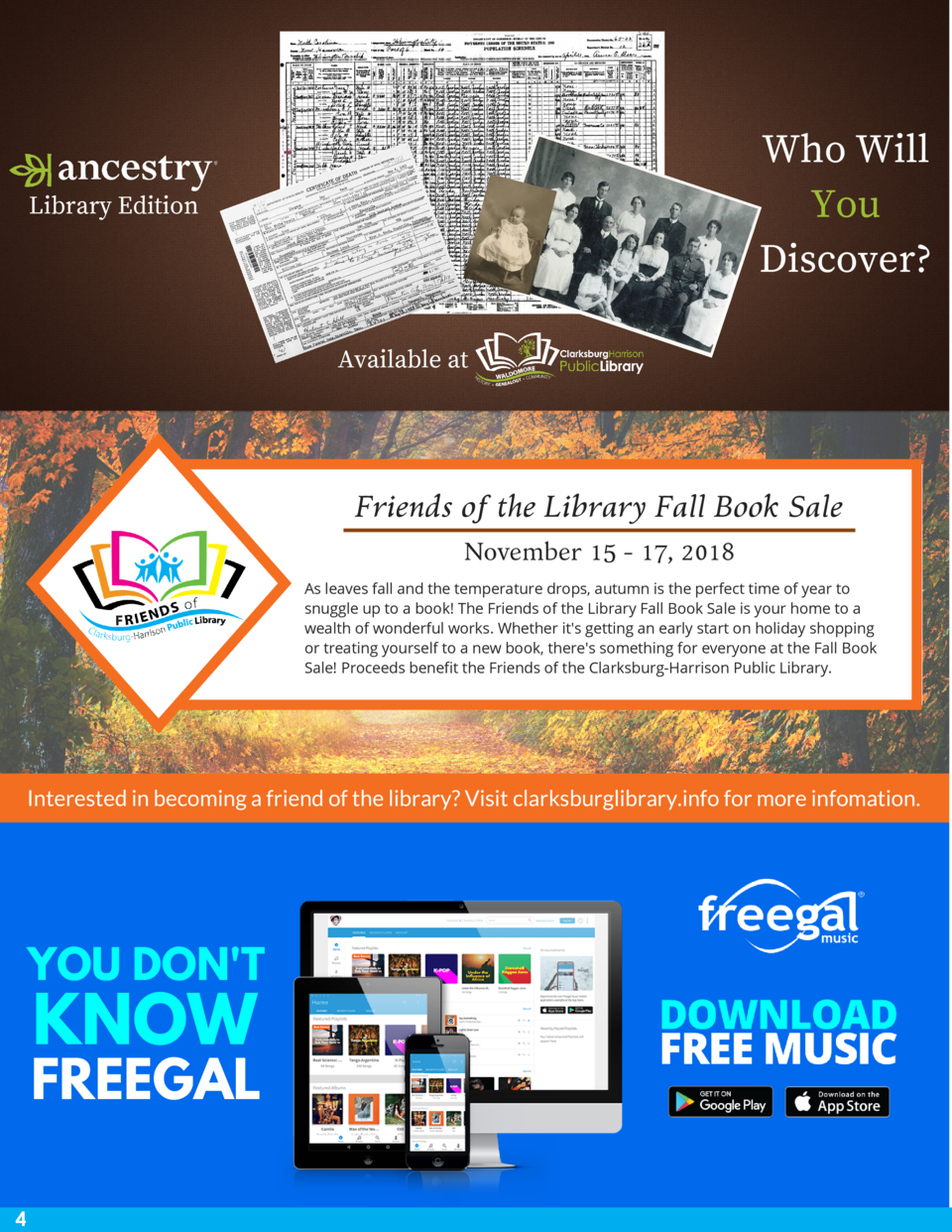 Who Will You Discover   Library Edition  Available at  Friends of the Library Fall Book Sale November 15 - 17, 2018 As lea...
