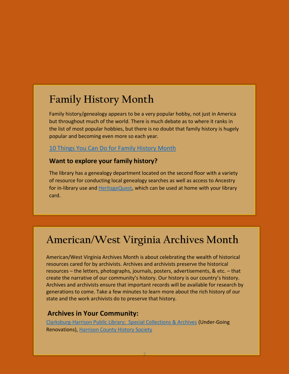 Family History Month Family history genealogy appears to be a very popular hobby, not just in America but throughout much ...