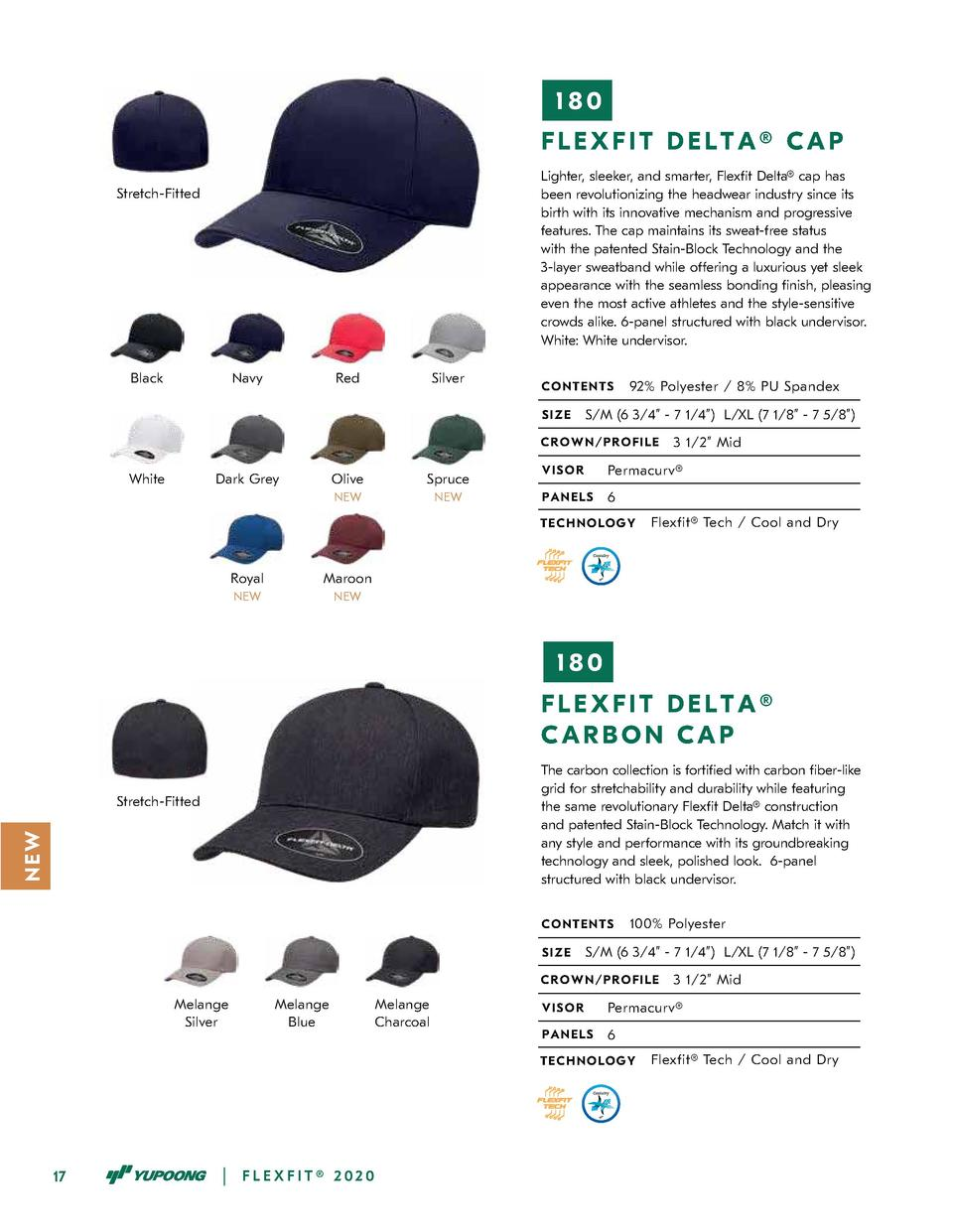 180 FLEXFIT DELTA   CAP Lighter, sleeker, and smarter, Flex  t Delta   cap has been revolutionizing the headwear industry ...