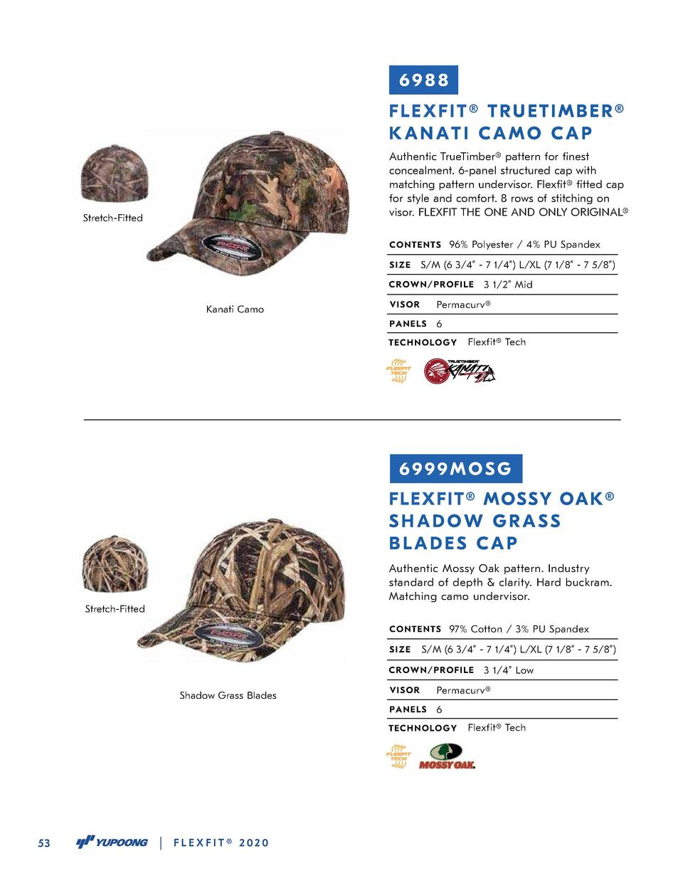 6988 FLEXFIT   TRUETIMBER   KANATI CAMO CAP Authentic TrueTimber   pattern for   nest concealment. 6-panel structured cap ...