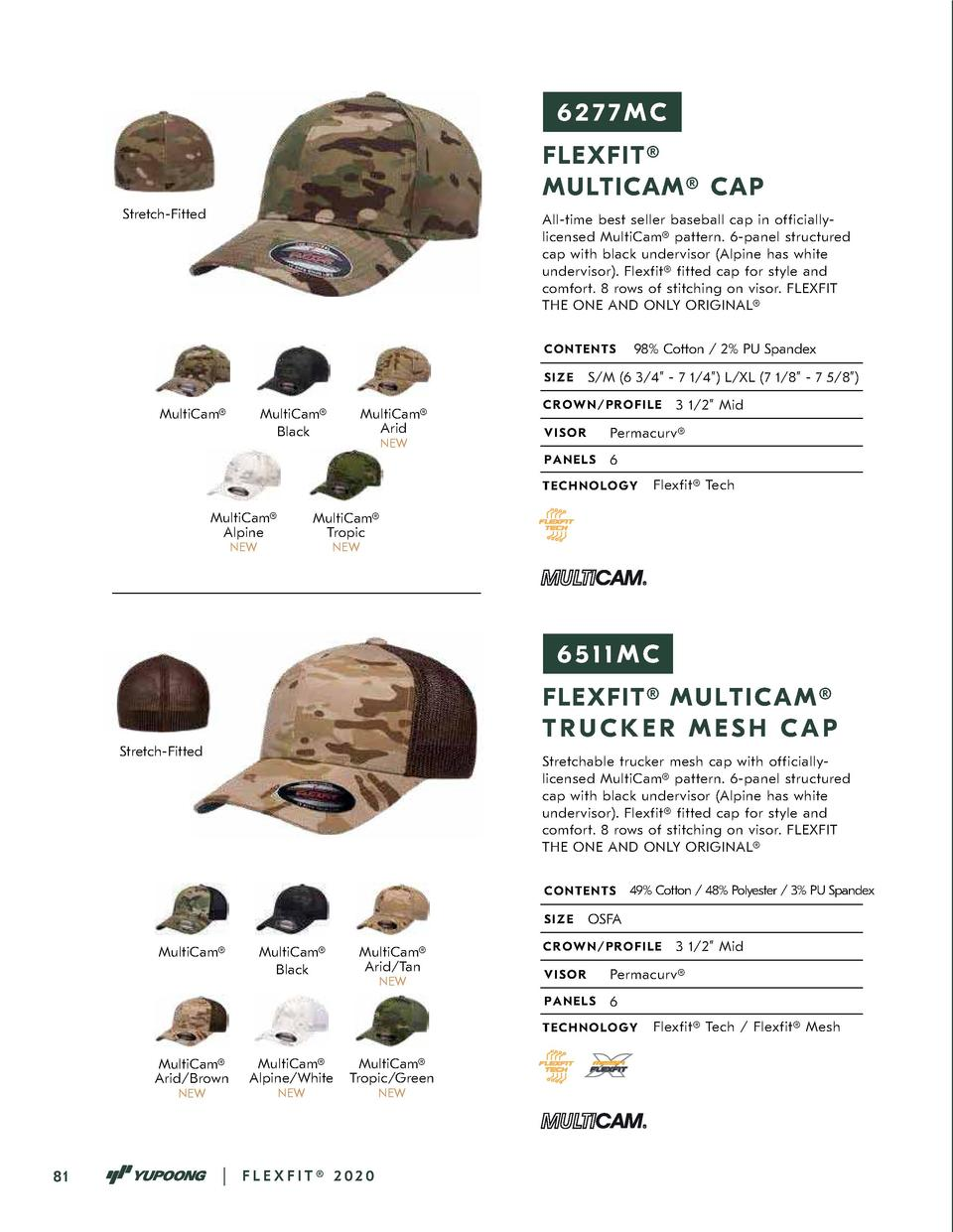 6277MC FLEXFIT   MULTICAM   CAP Stretch-Fitted  All-time best seller baseball cap in officiallylicensed MultiCam   pattern...