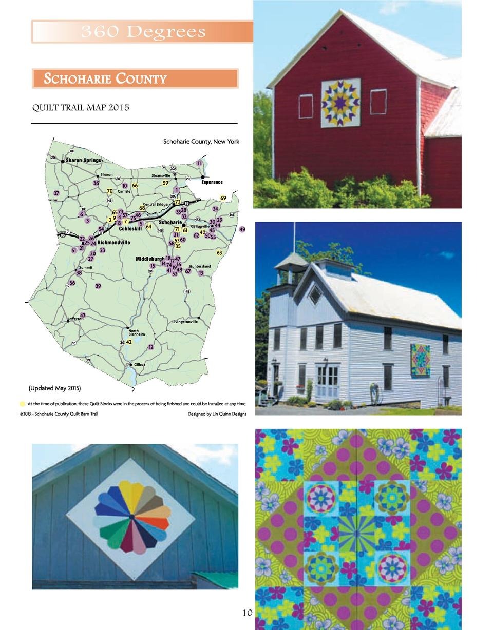 360 Degrees SCHOHARIE COUNTY QUILT TRAIL MAP 2015  10