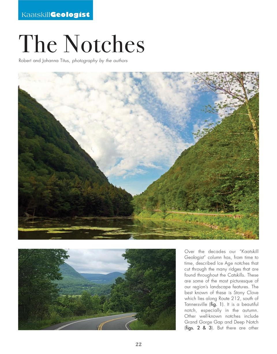KaatskillGeologist  The Notches Robert and Johanna Titus, photography by the authors  Over the decades our    Kaatskill Ge...