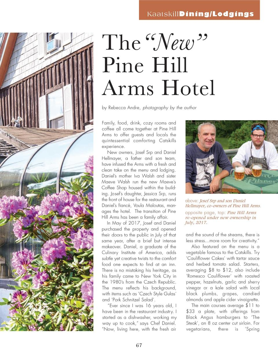 KaatskillDining Lodgings  The    New    Pine Hill Arms Hotel by Rebecca Andre, photography by the author Family, food, dri...