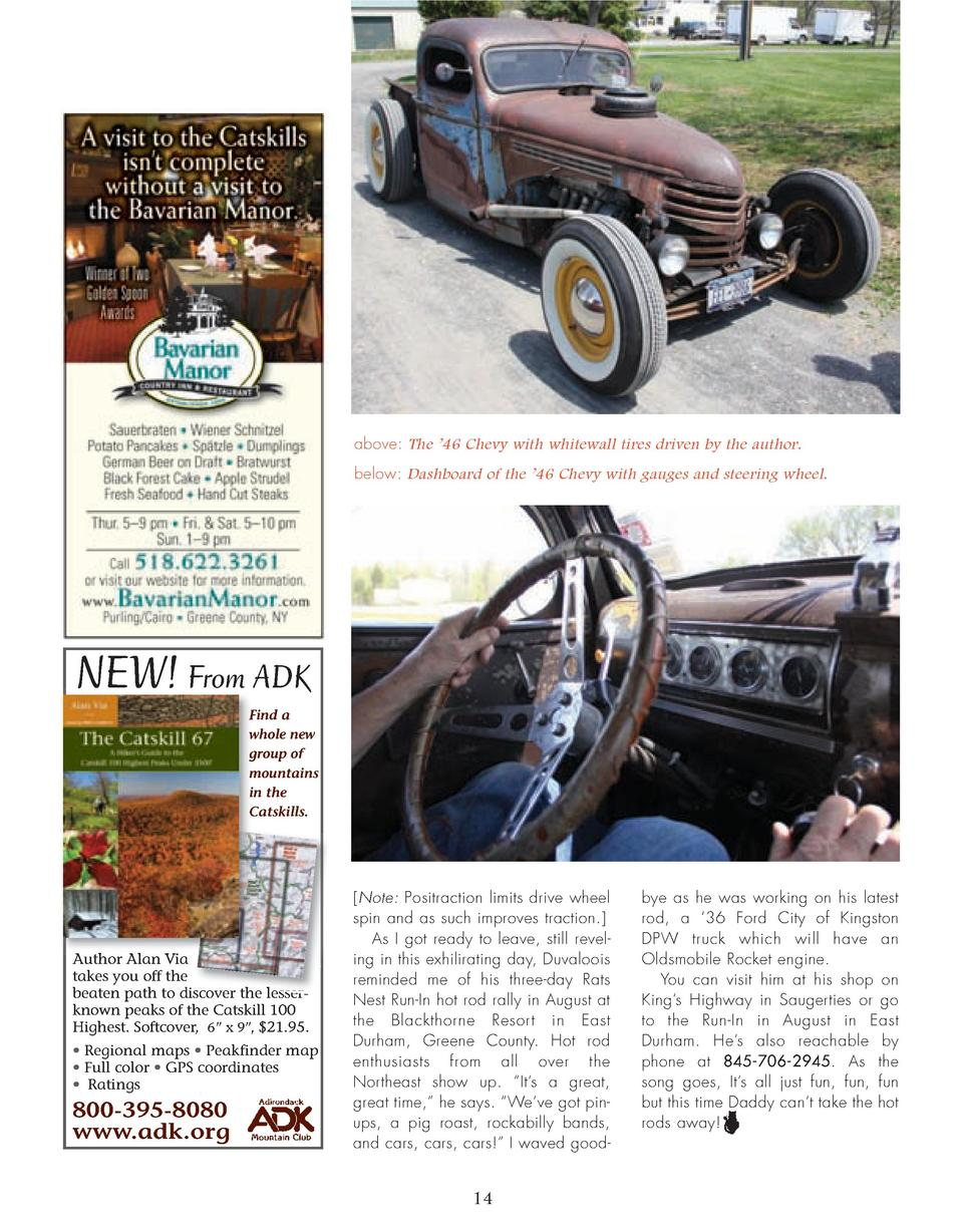 10_14_Runnin_With_Rats_FEATURE.qxp_Template 2 21 16 10 28 AM Page 5  above  The    46 Chevy with whitewall tires driven by...