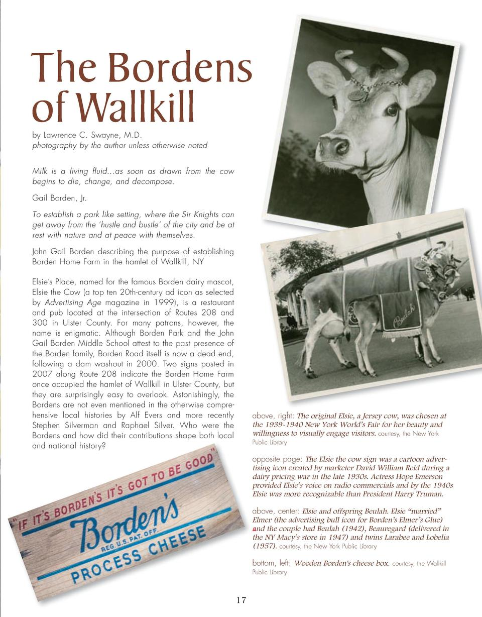 16_25_Bordens_of_Wallkill_FEATURE.qxp_Template 2 19 16 11 08 PM Page 2  The Bordens of Wallkill by Lawrence C. Swayne, M.D...