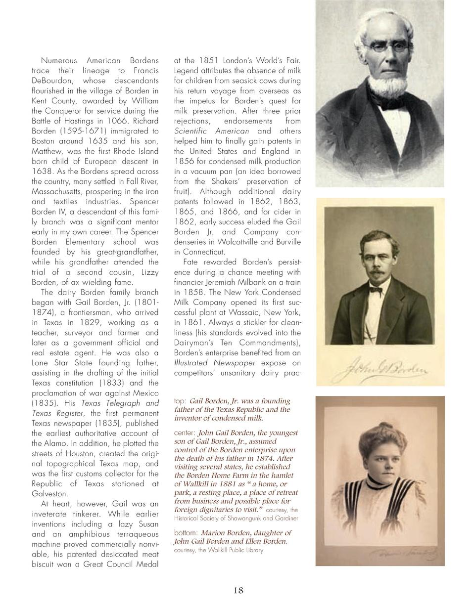 16_25_Bordens_of_Wallkill_FEATURE.qxp_Template 2 19 16 11 08 PM Page 3  Numerous American Bordens trace their lineage to F...