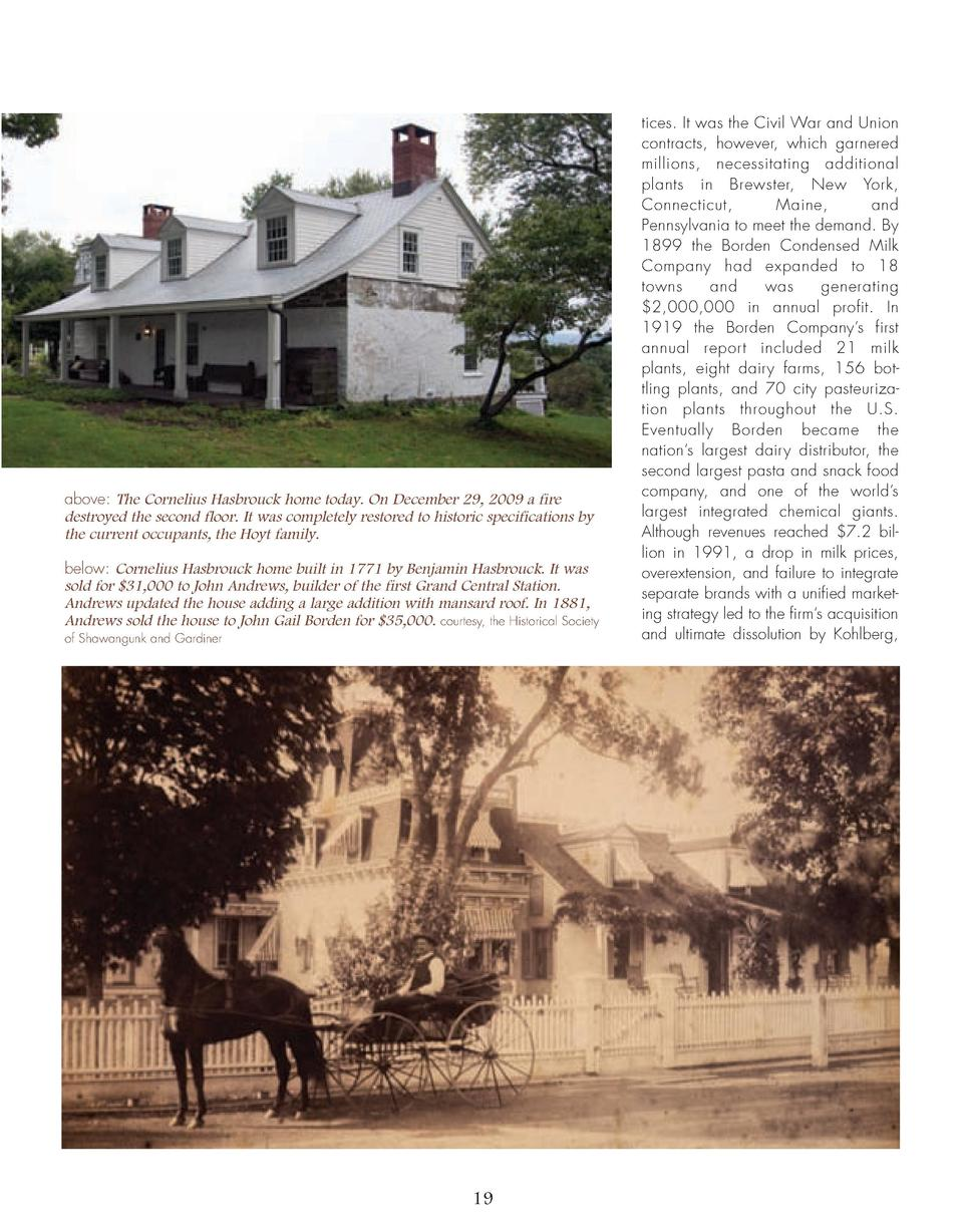 16_25_Bordens_of_Wallkill_FEATURE.qxp_Template 2 19 16 11 08 PM Page 4  above  The Cornelius Hasbrouck home today. On Dece...