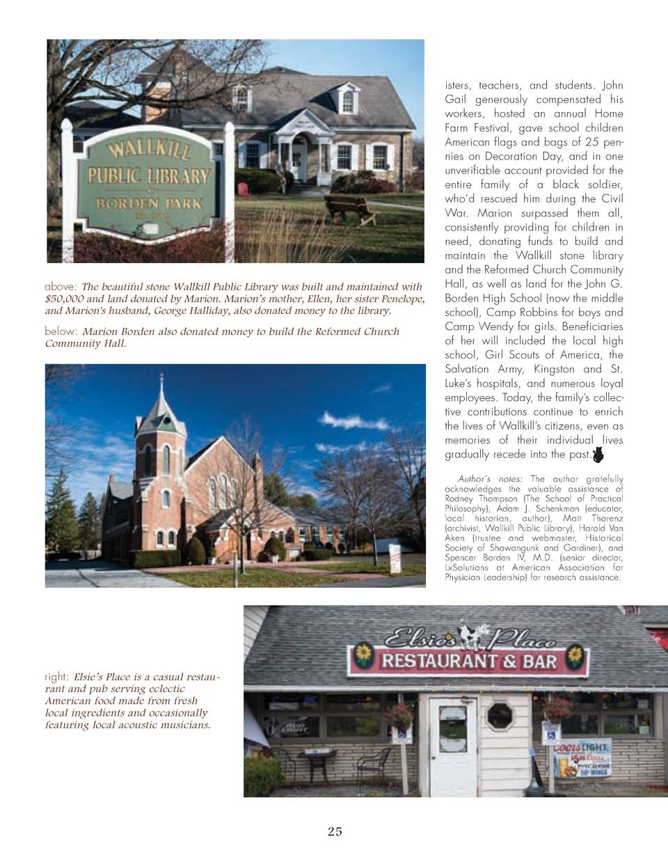 16_25_Bordens_of_Wallkill_FEATURE.qxp_Template 2 19 16 11 08 PM Page 10  above  The beautiful stone Wallkill Public Librar...