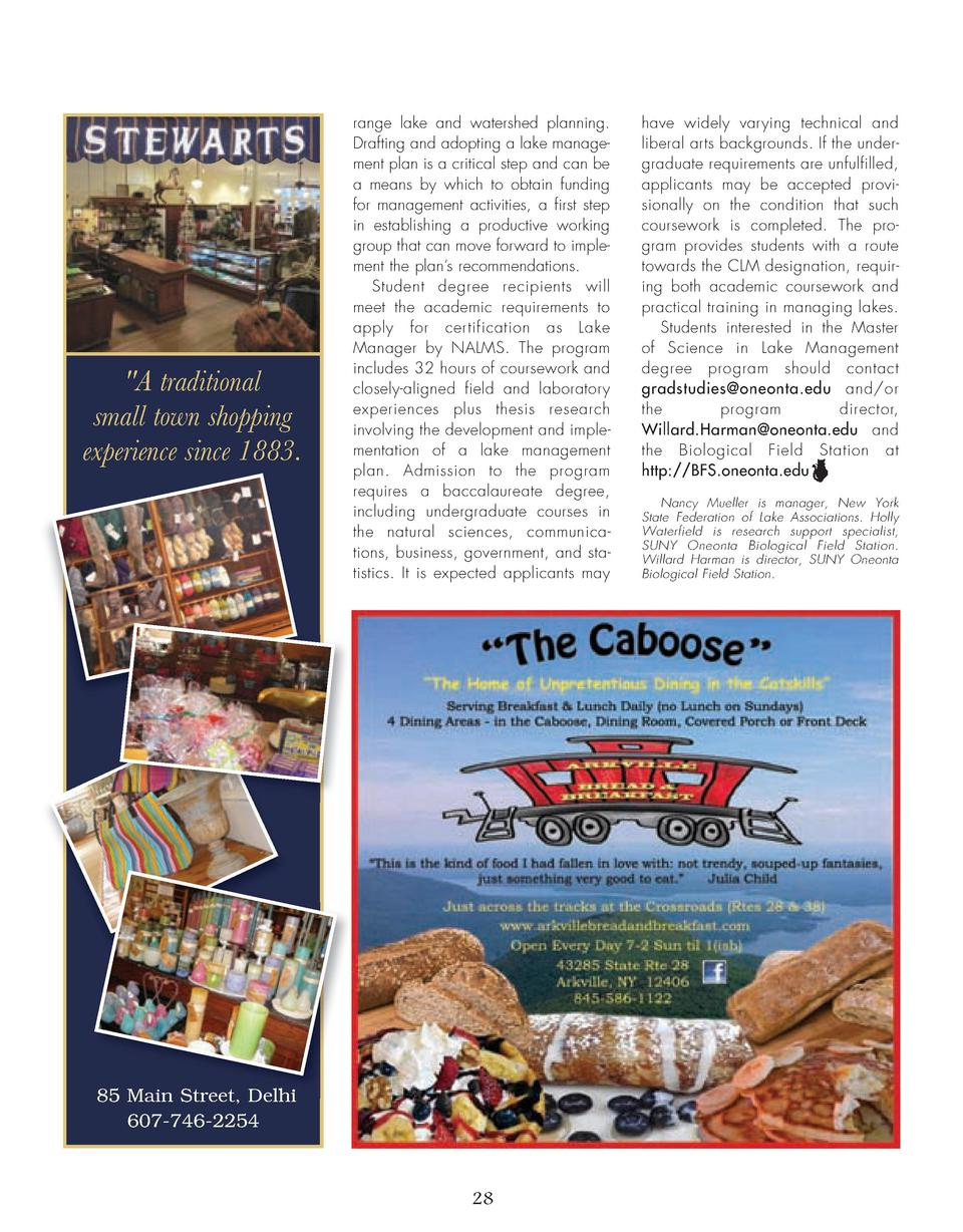 26_28_Lake_Management_FEATURE.qxp_Template 2 19 16 7 22 PM Page 3   A traditional small town shopping experience since 188...