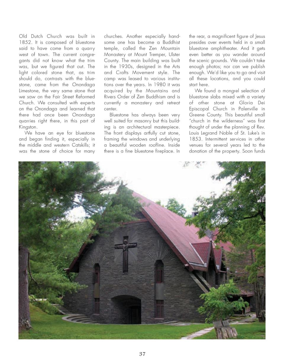 32_39_Rocks_of_Ages_GEOLOGIST.qxp_Template 2 19 16 8 45 PM Page 6  Old Dutch Church was built in 1852. It is composed of b...