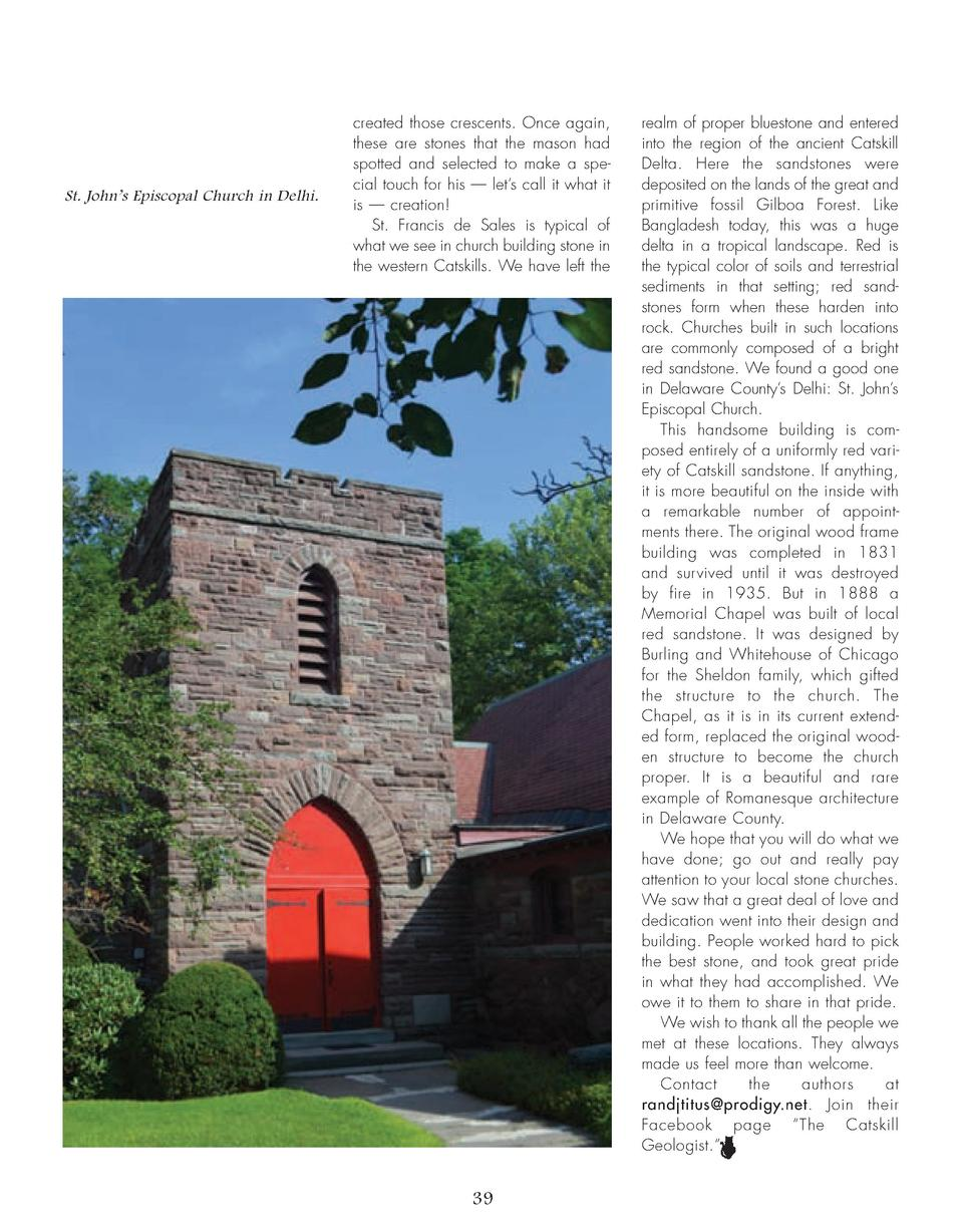32_39_Rocks_of_Ages_GEOLOGIST.qxp_Template 2 19 16 8 45 PM Page 8  St. John   s Episcopal Church in Delhi.  created those ...