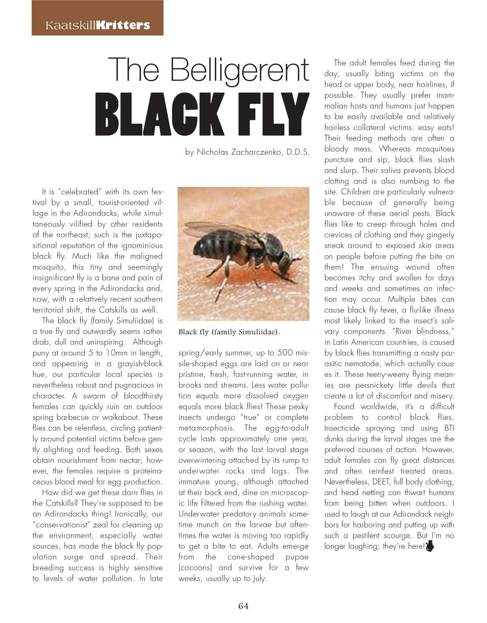 64_Belligerent_Black_Fly_KRITTERS.qxp_Template 2 19 16 11 13 PM Page 1  KaatskillKritters  The Belligerent  BLACK FLY by N...