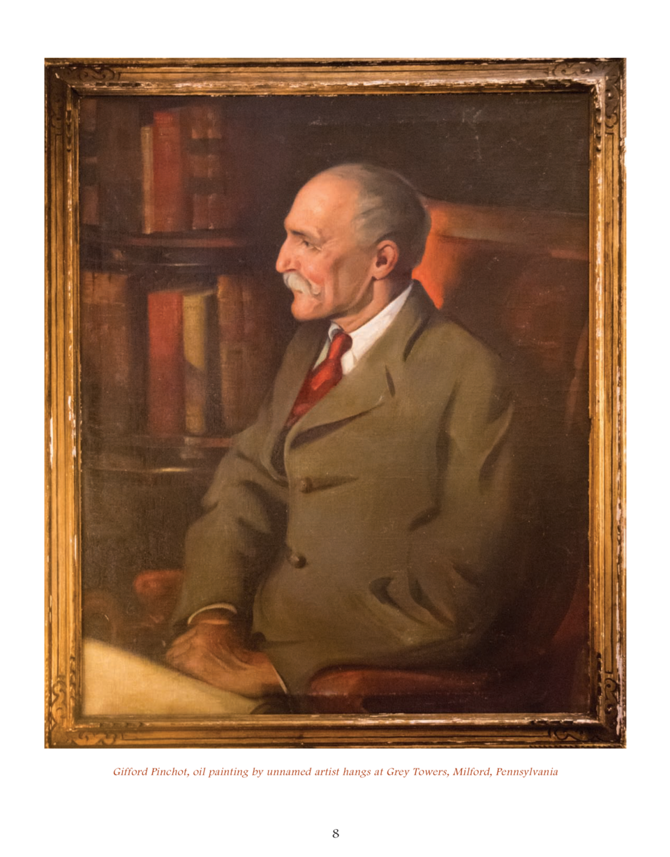 Gifford Pinchot, oil painting by unnamed artist hangs at Grey Towers, Milford, Pennsylvania  8