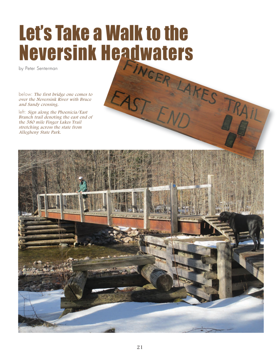 Let   s Take a Walk to the Neversink Headwaters  by Peter Senterman  below  The first bridge one comes to over the Neversi...