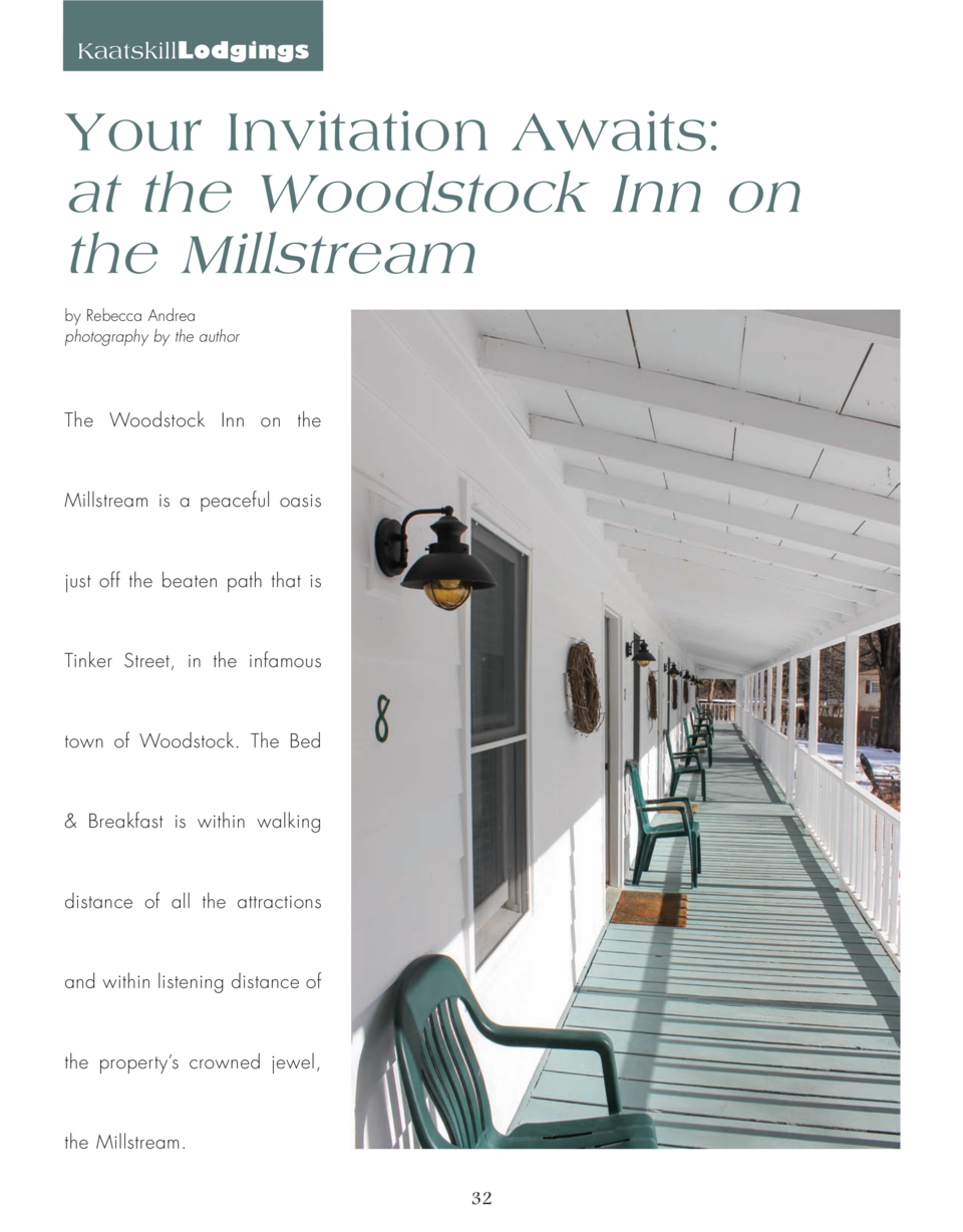 KaatskillLodgings  Your Invitation Awaits  at the Woodstock Inn on the Millstream by Rebecca Andrea photography by the aut...