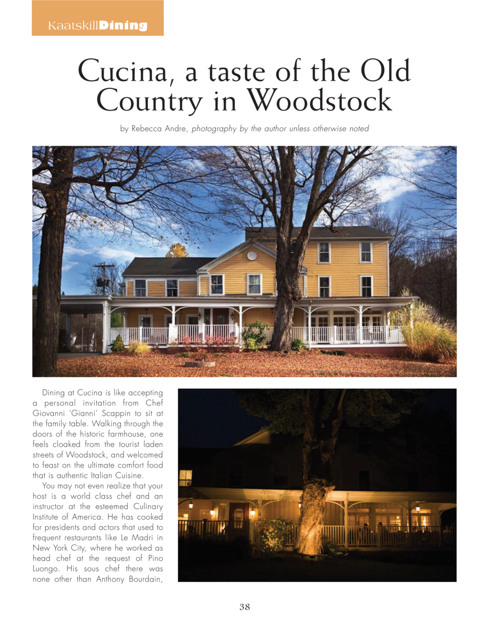 KaatskillDining  Cucina, a taste of the Old Country in Woodstock by Rebecca Andre, photography by the author unless otherw...