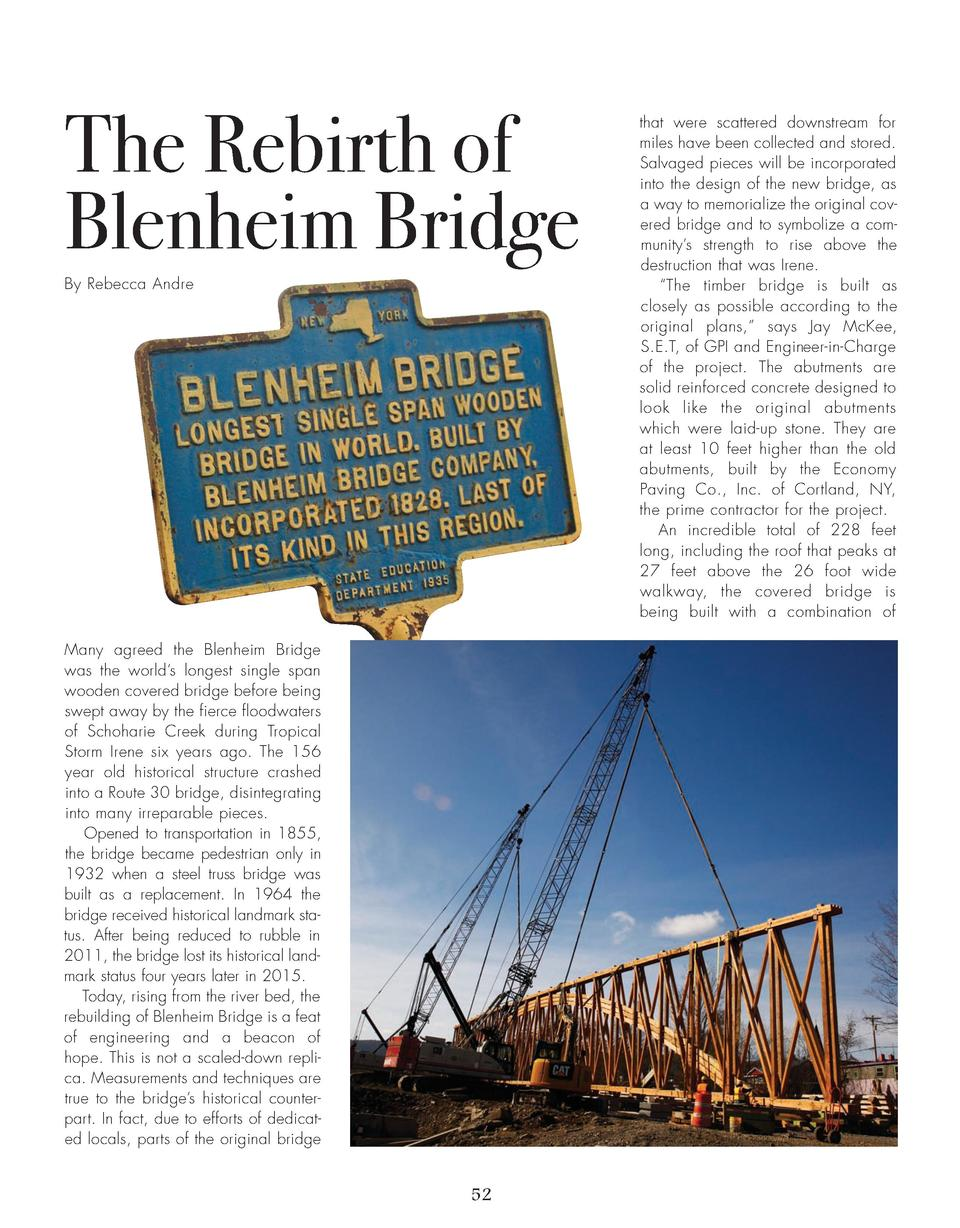 The Rebirth of Blenheim Bridge By Rebecca Andre  Many agreed the Blenheim Bridge was the world   s longest single span woo...