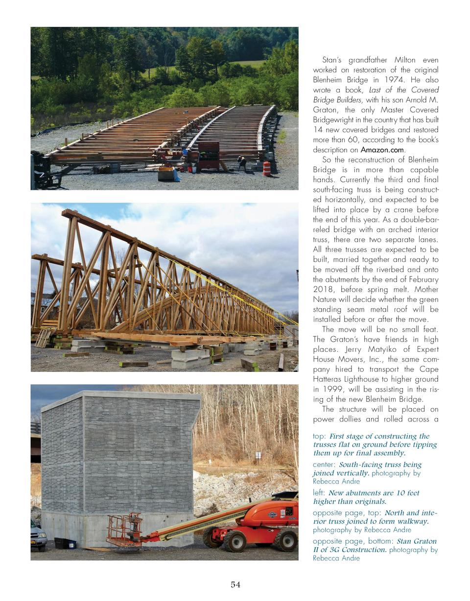Stan   s grandfather Milton even worked on restoration of the original Blenheim Bridge in 1974. He also wrote a book, Last...