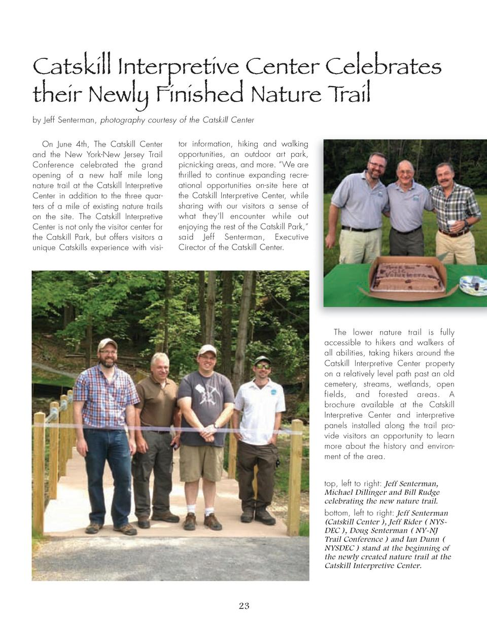 Catskill Interpretive Center Celebrates their Newly Finished Nature Trail by Jeff Senterman, photography courtesy of the C...