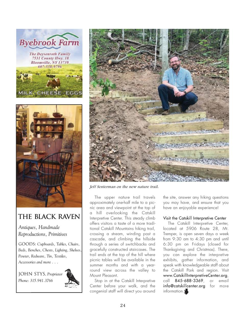 Jeff Senterman on the new nature trail.  THE BLACK RAVEN Antiques, Handmade Reproductions, Primitives Goods  Cupboards, Ta...