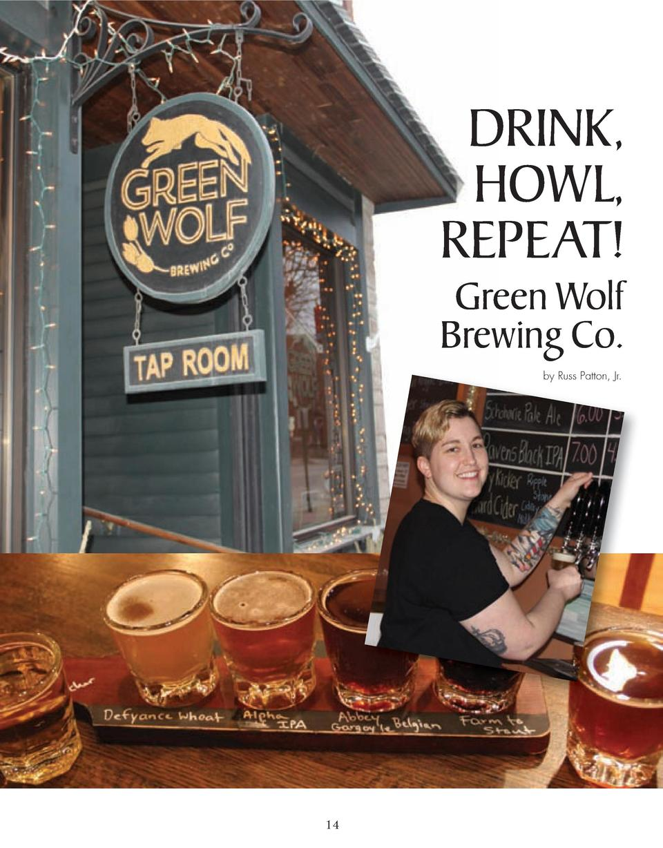 DRINK, HOWL, REPEAT  Green Wolf Brewing Co. by Russ Patton, Jr.  14