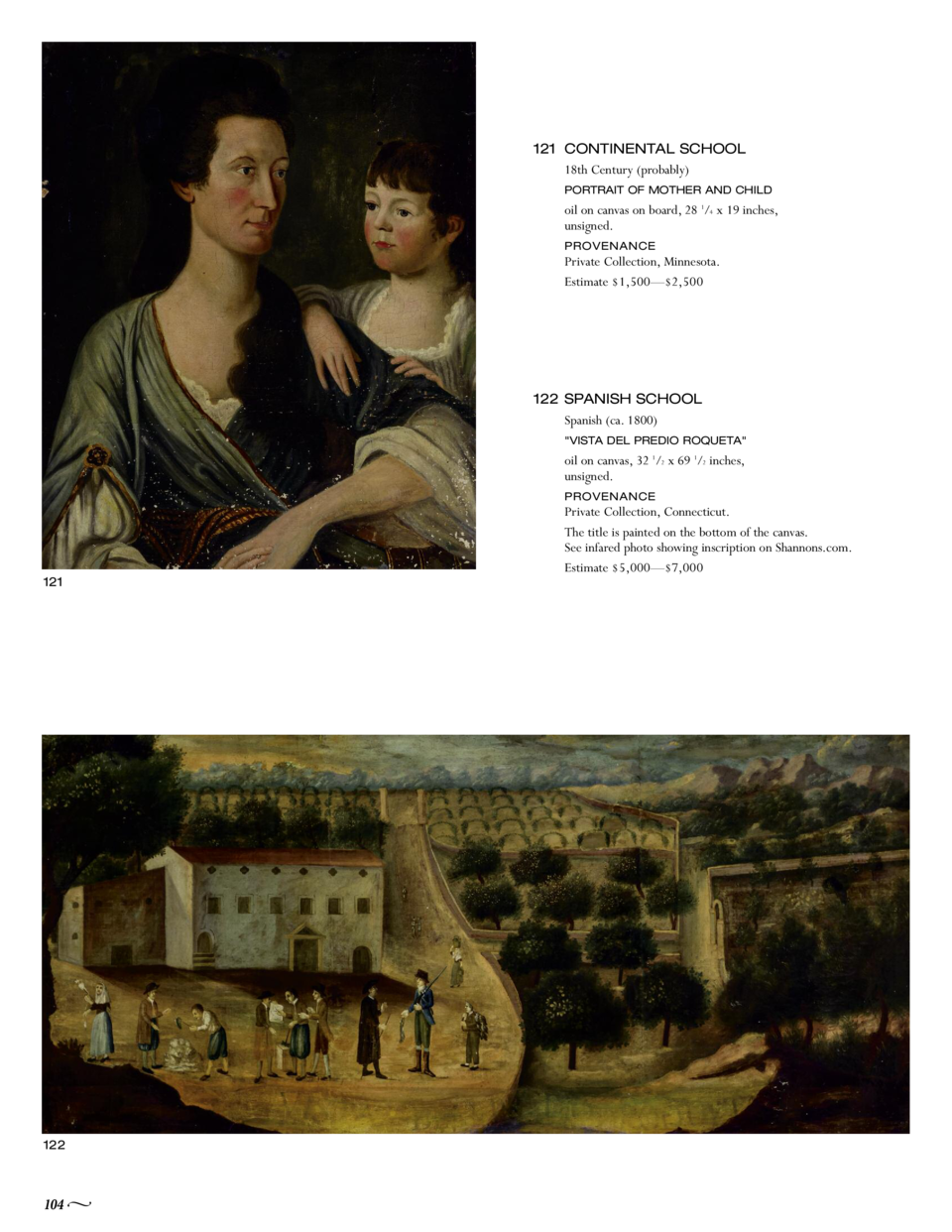 121 CONTINENTAL SCHOOL 18th Century  probably  PORTRAIT OF MOTHER AND CHILD  oil on canvas on board, 28 1 4 x 19 inches, u...