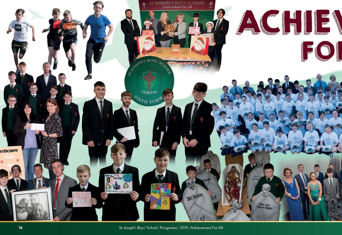 16  St Joseph   s Boys    School   Prospectus   2019   Achievement For All