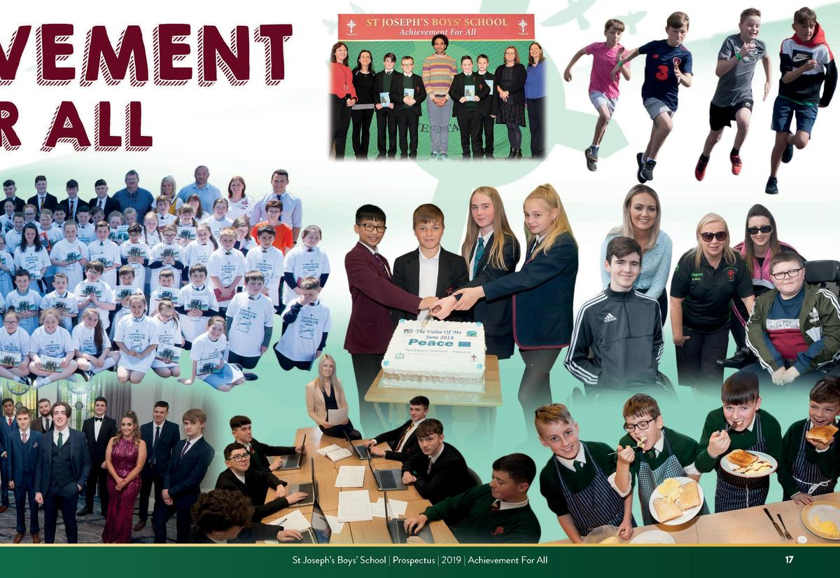 St Joseph   s Boys    School   Prospectus   2019   Achievement For All  17