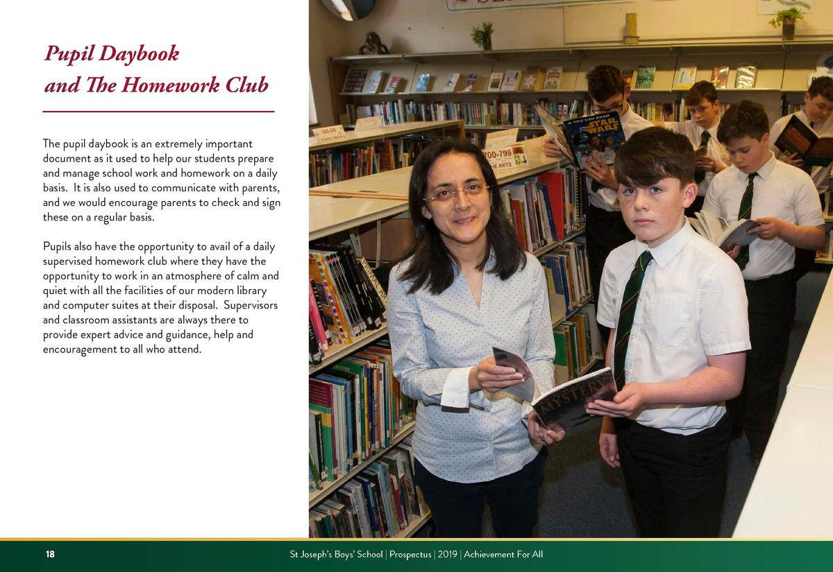 Pupil Daybook and The Homework Club The pupil daybook is an extremely important document as it used to help our students p...