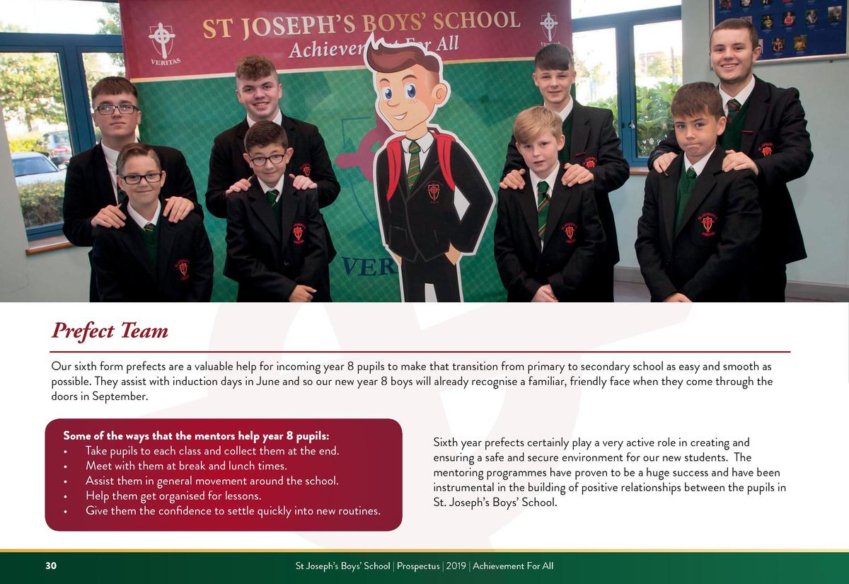 Prefect Team Our sixth form prefects are a valuable help for incoming year 8 pupils to make that transition from primary t...