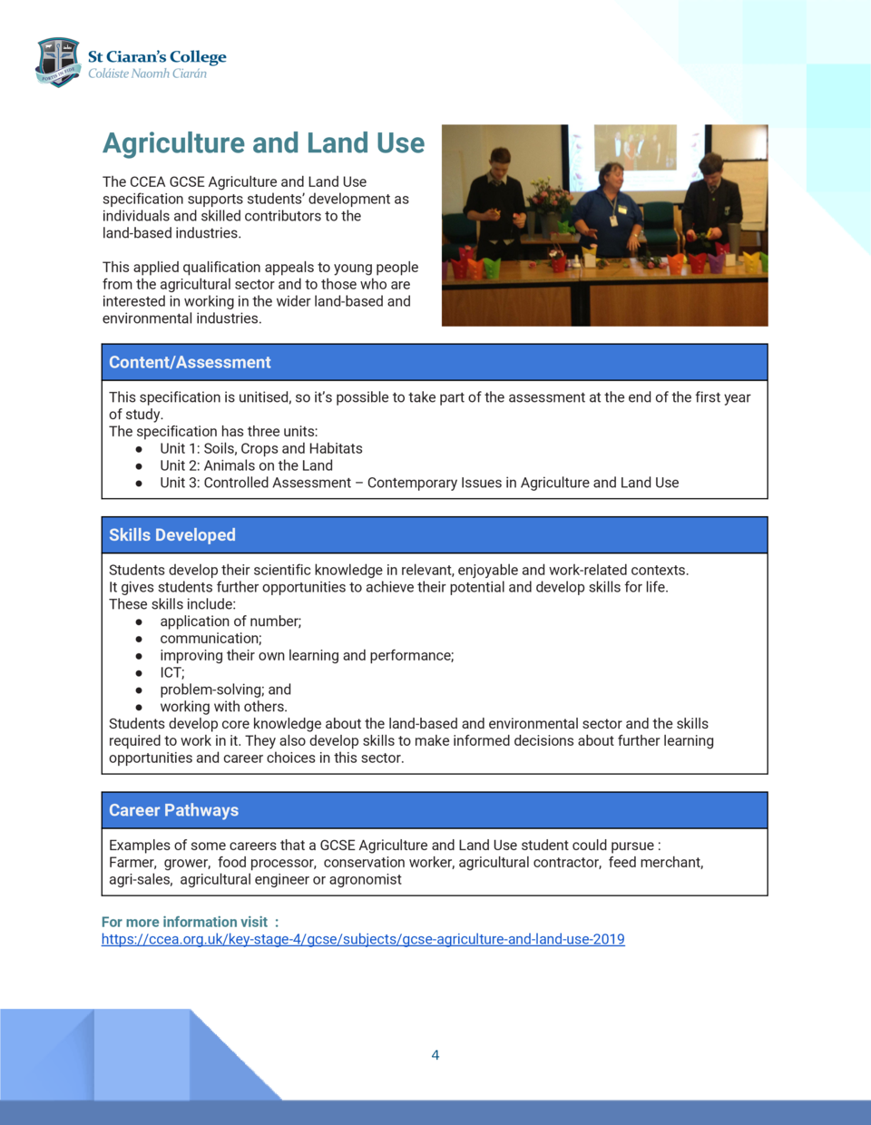 Agriculture and Land Use     esU dnaL dna erutlucirgA The CCEA GCSE Agriculture and Land Use   specification suppo...