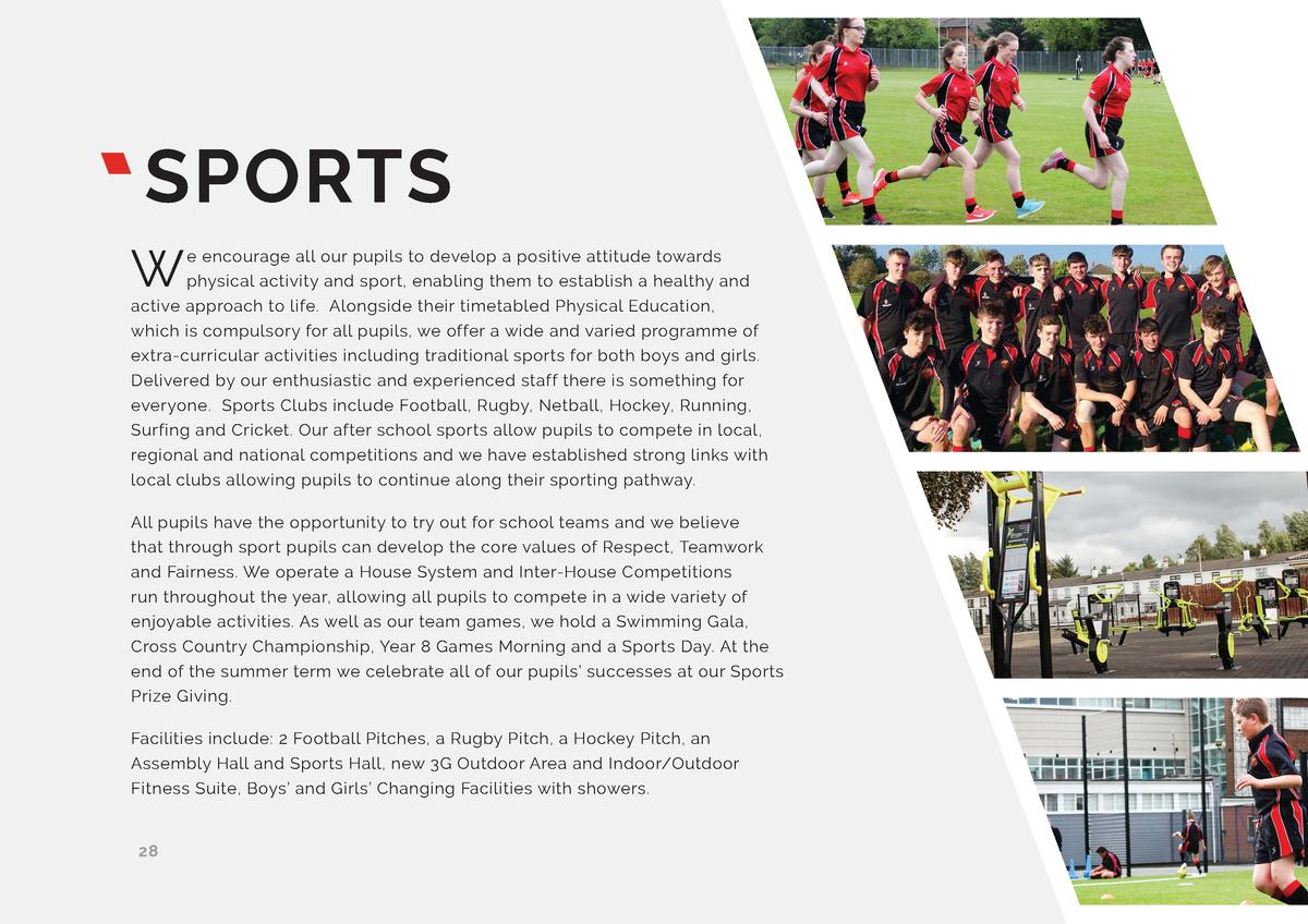SPORTS W  e encourage all our pupils to develop a positive attitude towards physical activity and sport, enabling them to ...