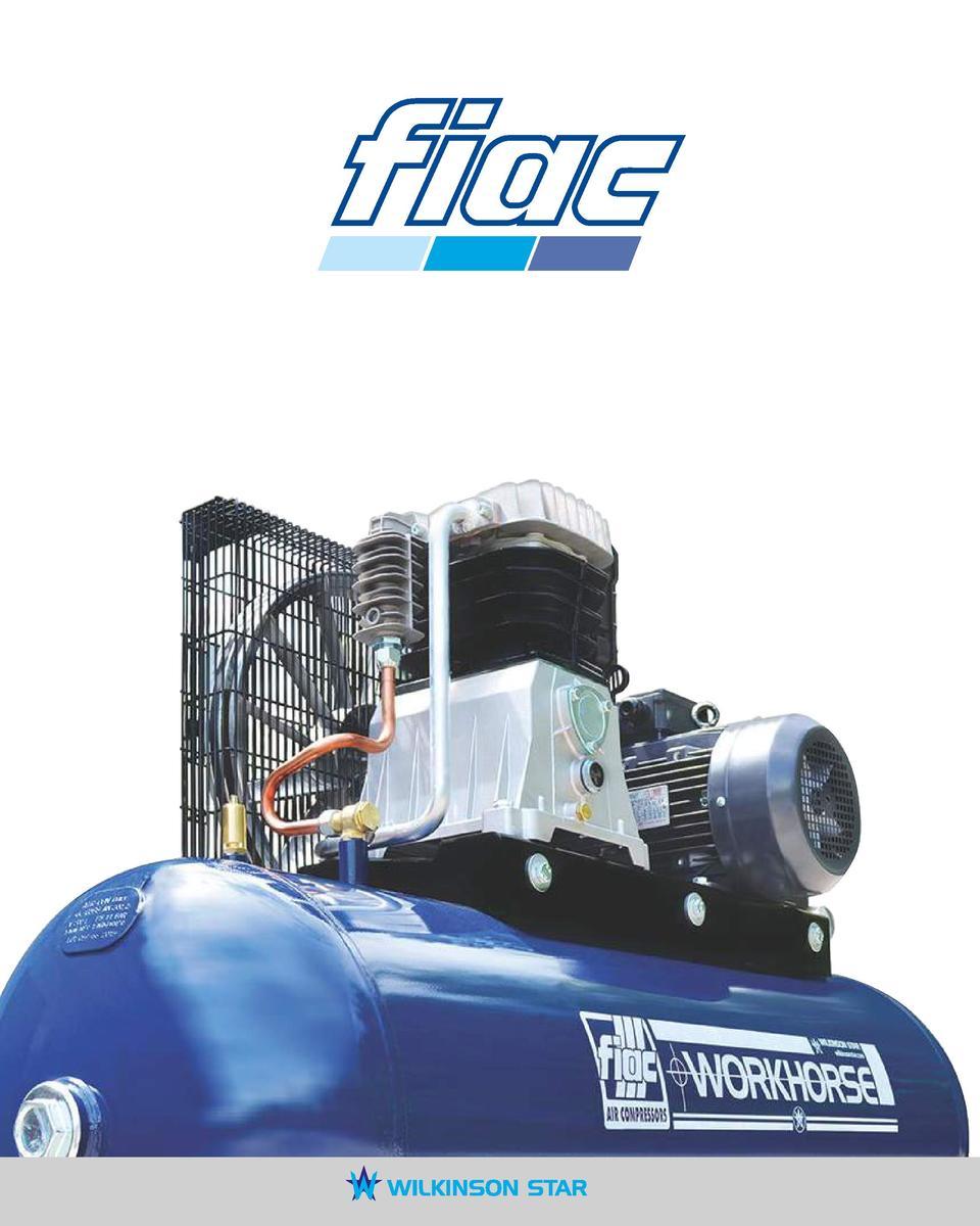 CONTENTS FIAC Direct Drive Air Compressors Workhorse Belt Drive Air  Compressors Piston Low Noise Compressors Silver Screw Compressors Page 3 4  8 9 10 11 ...