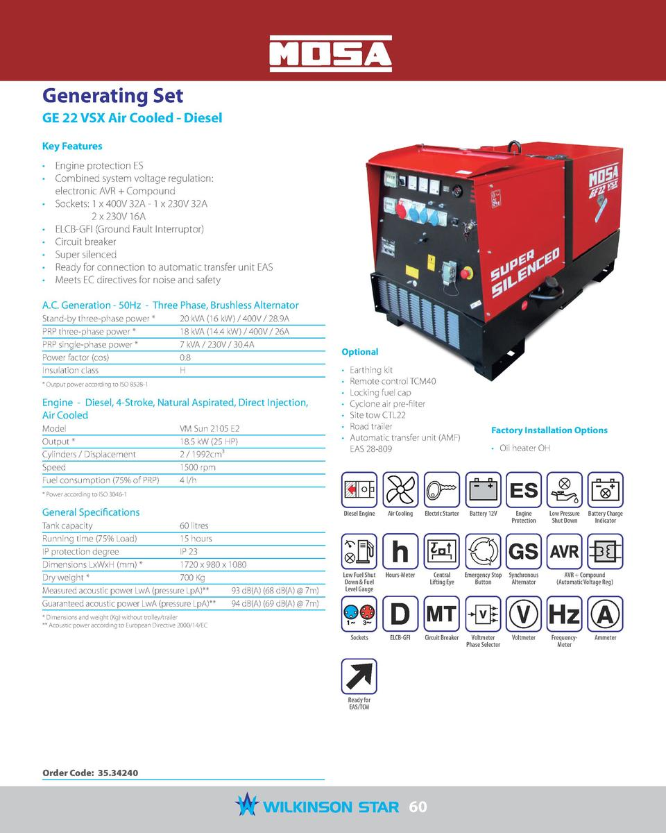 Mosa 2017 catalogue for Generatore mosa ge 33 vsx
