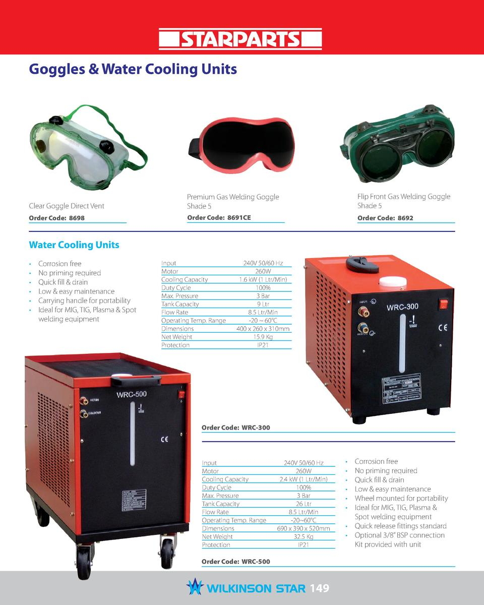 Goggles   Water Cooling Units  Clear Goggle Direct Vent  Premium Gas Welding Goggle Shade 5  Flip Front Gas Welding Goggle...